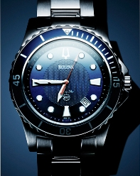 Bulova watch with blue face