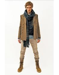 Khakis and boots at Balmain
