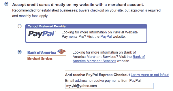 Figure 1. PayPal Accelerated Boarding option.