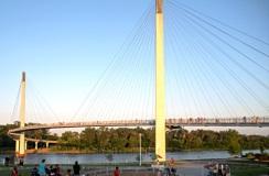 Bob Kerrey Pedestrian Bridge, Omaha, NE, to Council Bluffs, IA