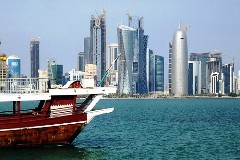 View of downtown Doha, Qatar