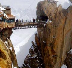 Aiguille du Midi Bridge near Chamonix, France