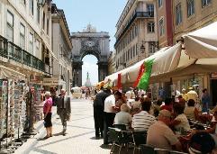A popular street in Lisbon