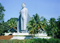 Buddha statue in the town of Pelmadulla, Sri Lanka