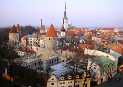 Sunset on Tallinn's Old Town