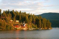 Coeur d'Alene, Idaho, on Lake Coeur d'Alene