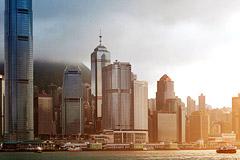 Hong Kong: Between Kowloon Peninsula and Hong Kong Island