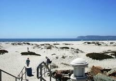 The 10-mile-long beach at Coronado Island