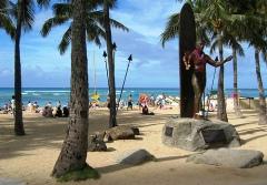 The Duke Kahanamoku Statue on Waikiki Beach