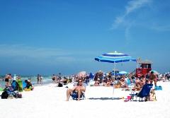 Siesta Beach, the main public beach in Sarasota