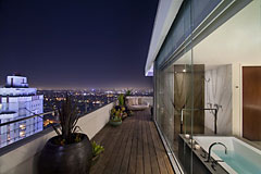 Penthouse suite patio at the Andaz Hotel