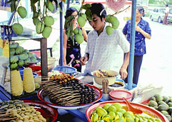 A fruit stall in Penang