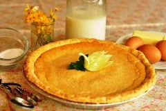 Buttermilk pie from Tootie Pie Company in Boerne, Texas