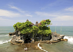 Tanah Lot, a Hindu temple on Bali