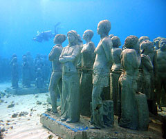 Cancún's Underwater Museum, Mexico
