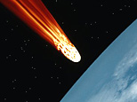 An asteroid striking Earth. (Getty Images)