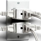 Overloaded electrical outlet (iStockPhoto)
