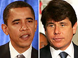(L-R) Barack Obama (Scott Olson/Getty Images); Rod Blagojevich (Tim Boyles/Getty Images)