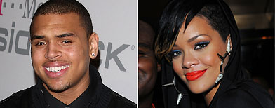 (L-R) Chris Brown (Jason Merritt/Getty Images); Rihanna (George Napolitano/WireImage)