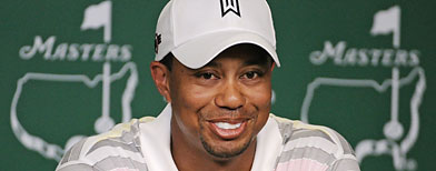 Adulterer Tiger Woods All Grins Again, Thinks He will &#8220;Win Masters&#8221;