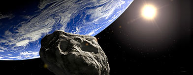 Asteroid and earth (Getty Images)