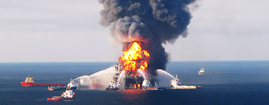 Was the oil rig sabotaged the day before Earth Day