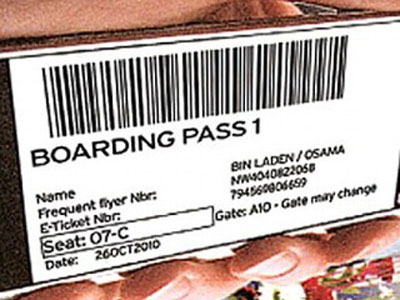 "Osama bin Laden""s Boarding Pass"