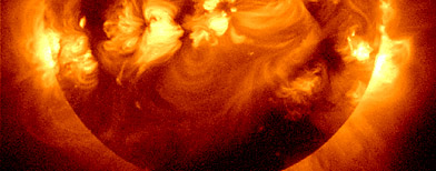 Composite image of multiple solar flares on the sun. (NASA/AP Photo)