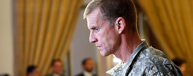 In this Jan. 20, 2010 file photo, Gen. Stanley McChrystal is shown in Kabul, Afghanistan (AP Photo/Musadeq Sadeq)