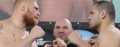 Lesnar vs. Caín. Getty Images