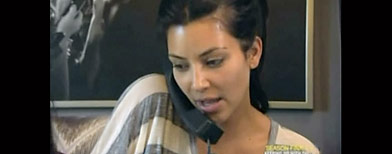 Kim Kardashian on 'Keeping up with the Kardashians'/Lo que te perdiste