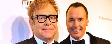 Elton John and David Furnish (Kevin Mazur/WireImage)