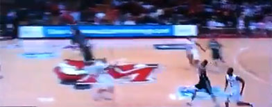 Wild finish to college basketball game