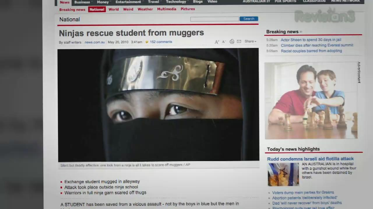 Ninjas Rescue Student From Muggers - Diggnation Daily - Yahoo! view on video.yahoo.com tube online.