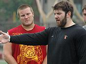 USC center Kris O'Dowd from summer workouts