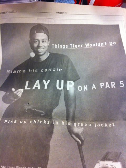This Tiger Woods ad from 1997 will give you a chuckle