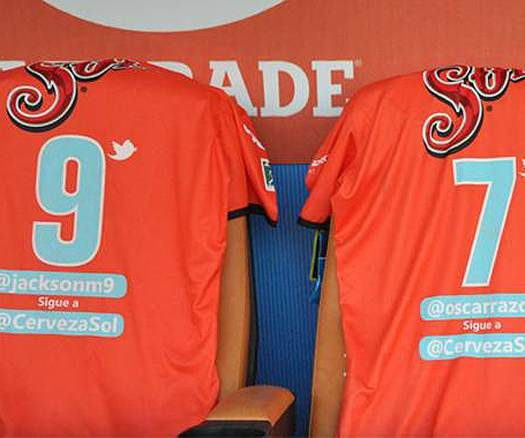 Mexican club replace players' names with Twitter handles on shirts