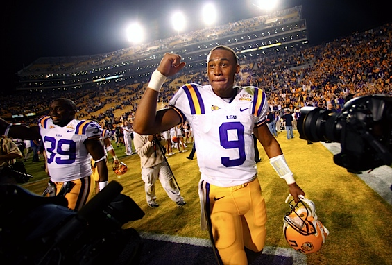 Jordan Jefferson has been charged with felony battery. Let LSU's quarterback reckoning begin.