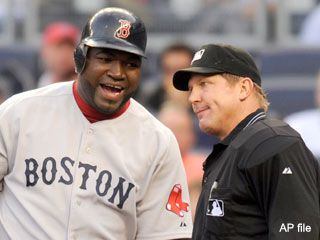 David Ortiz blames the media for first Yankees plunking