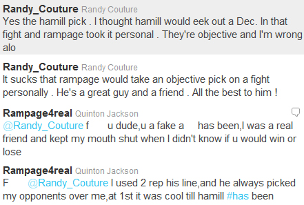 Don?t pick against Jackson: Couture called a ?fake [expletive] has-been? for doing so