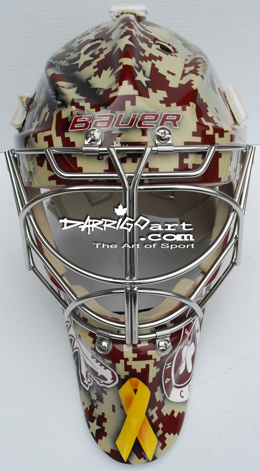 Pat Tillman tribute featured on Jason LaBarbera's stunning mask