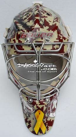 Pat Tillman tribute featured on Jason LaBarbera's stunning mask