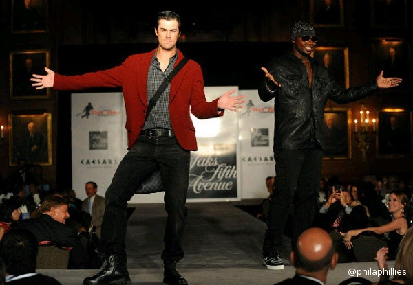 Cole Hamels strikes a pose at Phillies charity fashion show