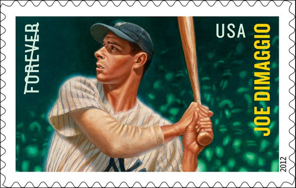 Sweet: Joe DiMaggio gets his first U.S. postal stamp