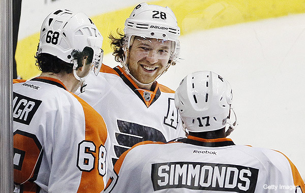 Wednesday's Three Stars: Giroux rules; Wings, Canucks chaos