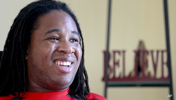 Video: Eric LeGrand inspires at Jets camp