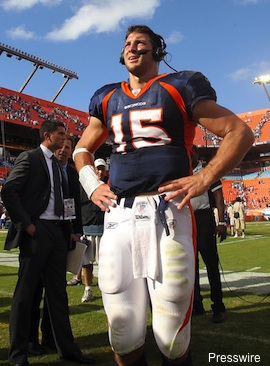 After disastrous start, Tebow leads Broncos to overtime victory