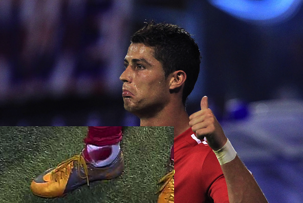 Ronaldo has a bloody sock, knows why fans whistle at him