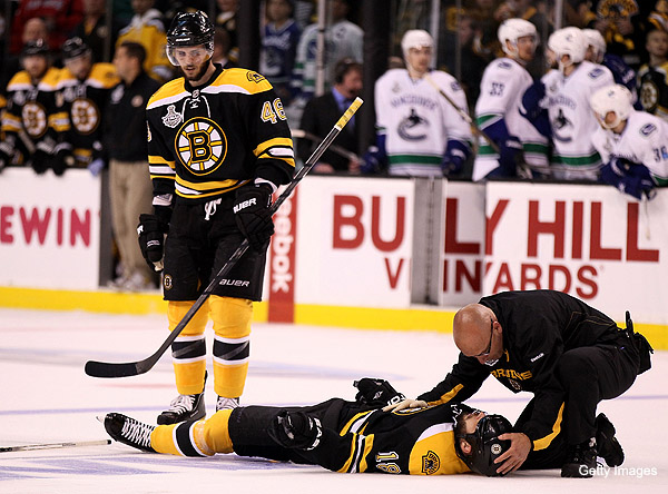 Nathan Horton's season over, severe concussion from Rome hit
