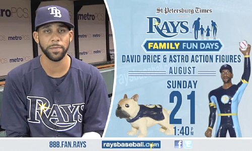 Rays giving out action figure of 'superhero' David Price — and dog